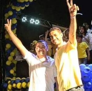 Prefeito Tiago Lisboa (PSDB) e o vice-prefeito Erivelton Ferreia (PV)