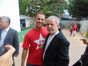 Vereador Altamir e os ex-presidente Lula