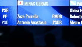 O nome de Aécio Neves foi retirado do painel do plenário do SenadoMarcelo Camargo/Agência Brasil