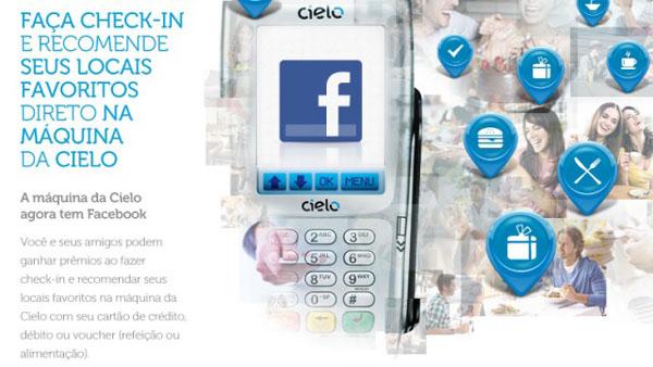 Facebook na máquina da Cielo