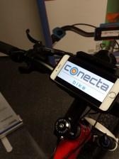 Manillar con el prototipo de Conecta Bike