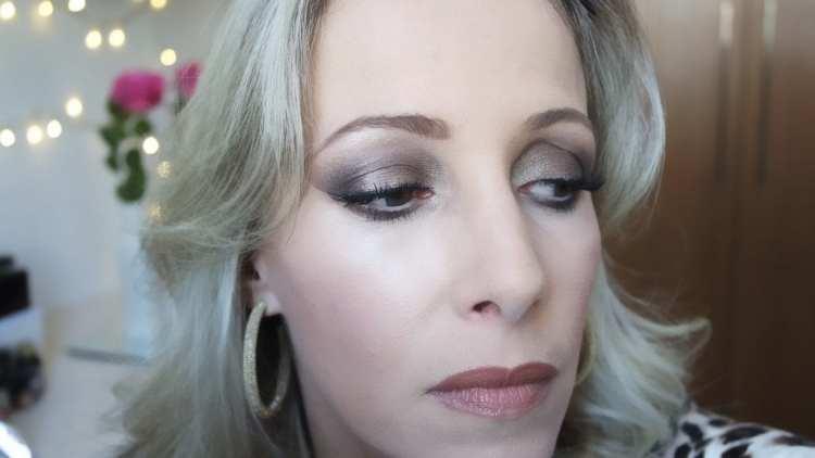 maquiagem marrom bronze e nude tons terrosos