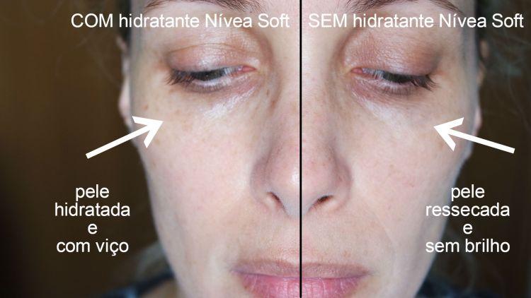 nívea soft antes e depois