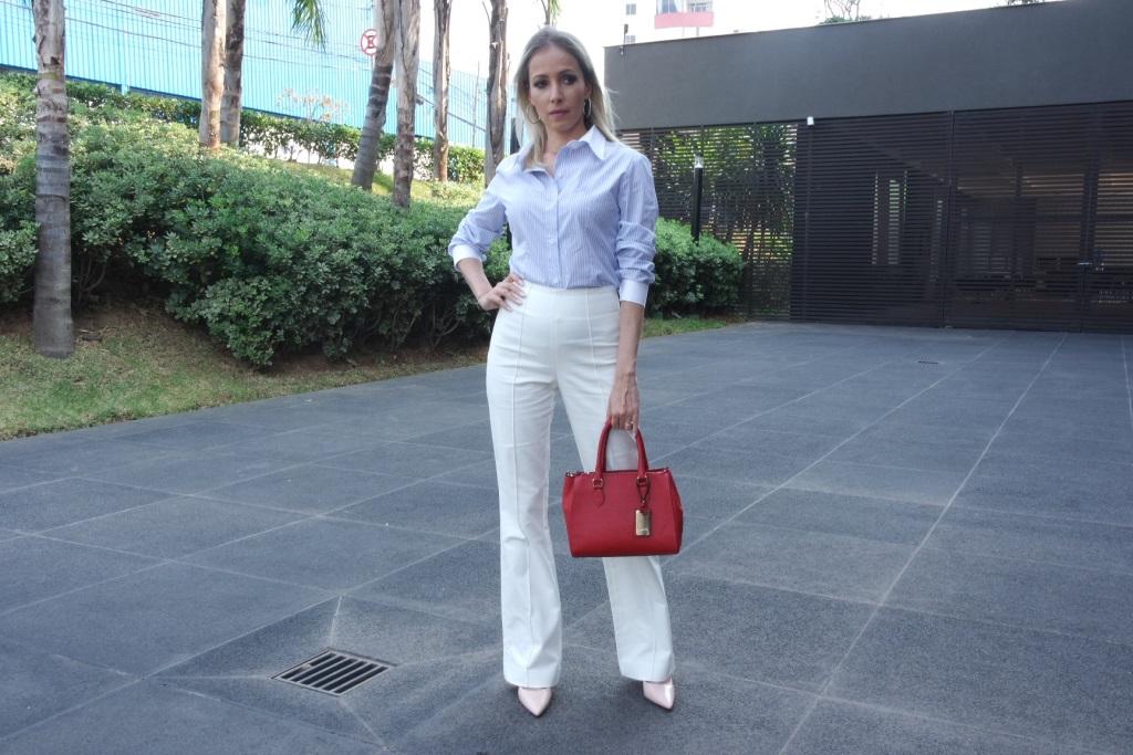 1 camisa 4 looks calça flare blog da ana