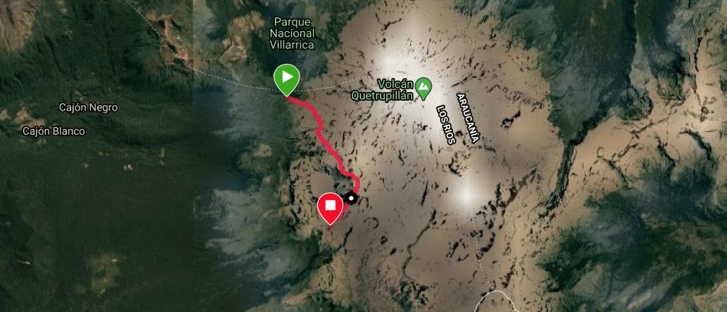 Villarrica Traverse Mapa