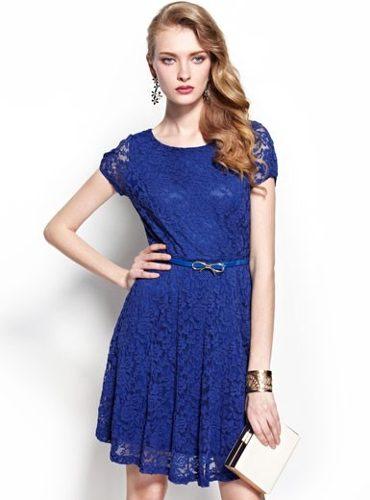 vestidos-casuais-de-renda-azul-royal