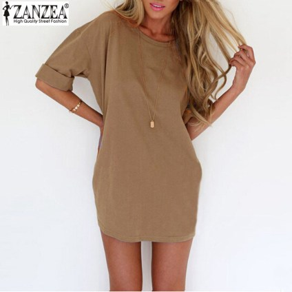 ZANZEA-2016-Summer-Style-Fashion-Women-Casual-Loose-Dress-Sexy-Ladies-Short-Sleeve-Solid-Color-Mini
