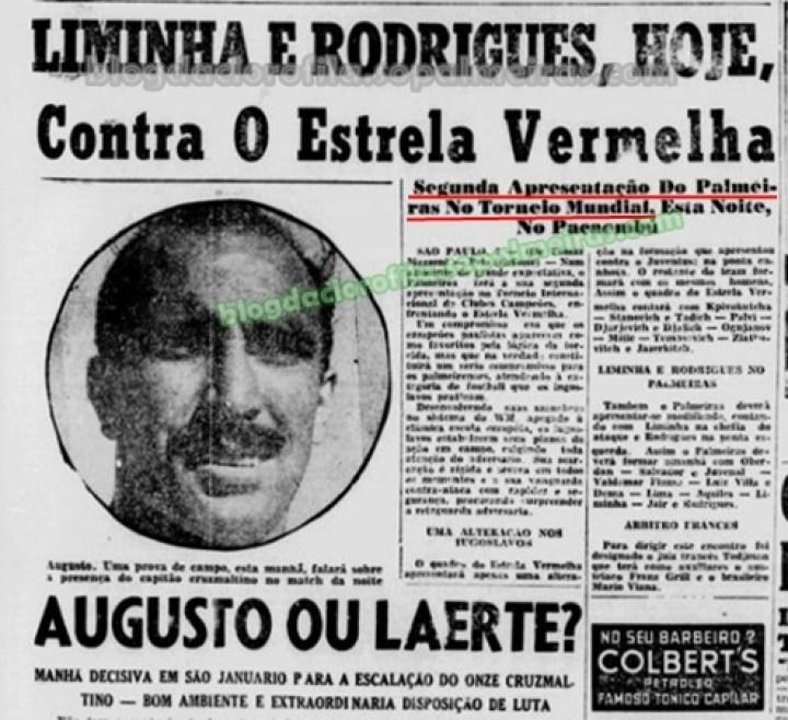 O Alviverde Imponente ia em busca da sua segunda vitória e da classificação  no grupo. E o Palmeiras venceu os iugoslavos por 2 x 1 1825f85601db2
