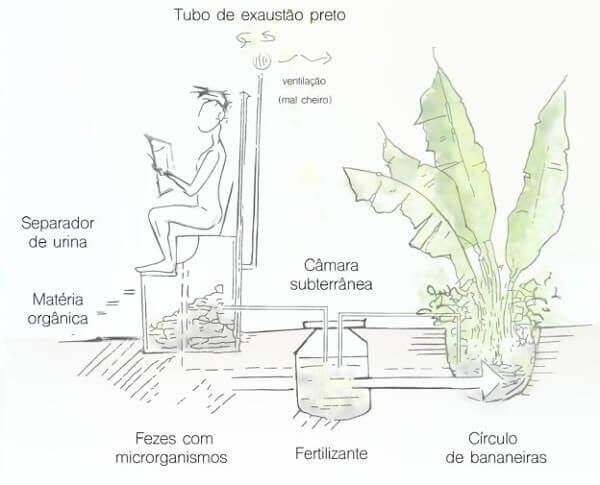 Banheiro seco bioconstrução sustentabilidade