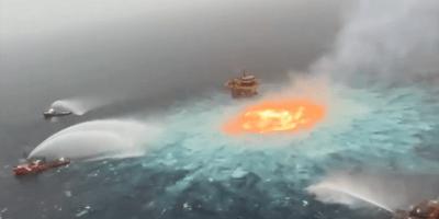 Oceano em chamas