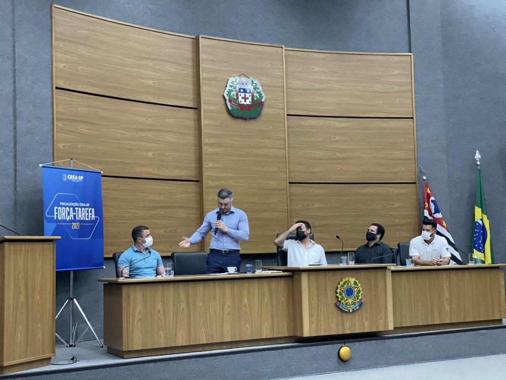 Vinícius Marchese, Presidente do CREA-SP em abertura da força-tarefa de Cajamar-SP