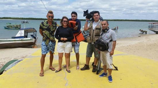 Equipe de TV inicia gravações por Galinhos