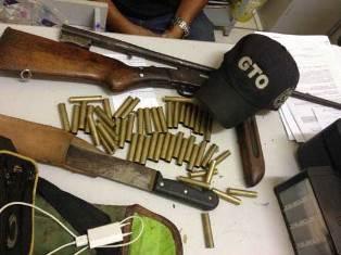Armas e munições apreendidas em Alexandria