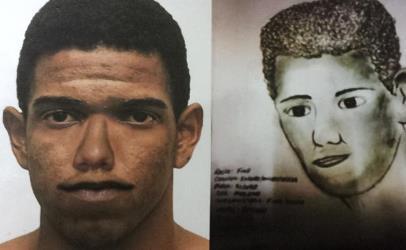 Retrato falado feito pela polícia no primeiro caso pode ajudar a localizar bandidos.