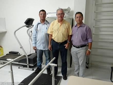 Dr. Alexandre Jardim, prefeito Louvado e o secretário municipal de saúde João Maria Rosa
