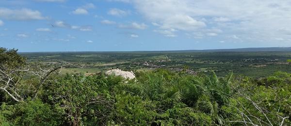 Vista de cima da serra do torreão