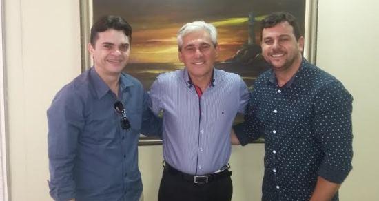 Bira Marques, Vereador Ricardo Gurgel e o jornalista e pré-candidato a vereador em Natal, jornalista Nildo Rodrigues