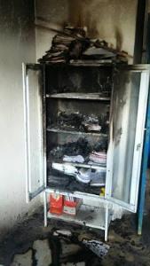 Fichário foi queimado(foto: whatsapp)