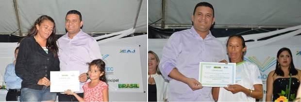 Prefeito Hélio entrega certificados dos cursos do Pronatec