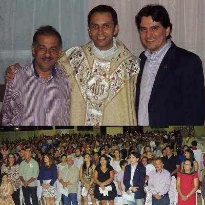 Deputado George Soares e prefeito Marquinhos prestigiam Pe. Ivanilson