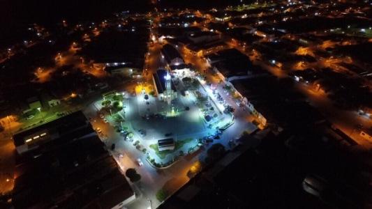 Foto de Angicos registrada pela câmara do drone