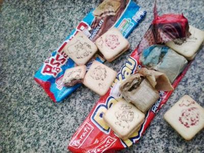 Maconha encontrada dentro de biscoitos recheados