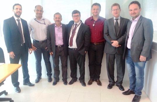 Prefeito Marquinhos com diretores da Copel Renováveis em Curitiba/PR