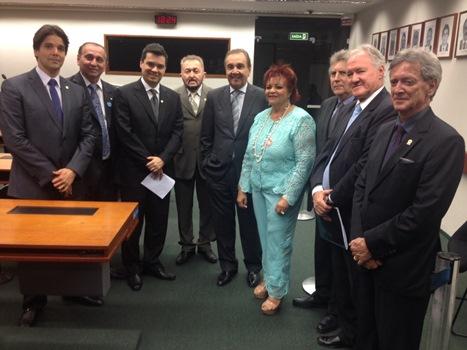 Integrantes da Bancada Federal do RN com a presidente do TRE/RN