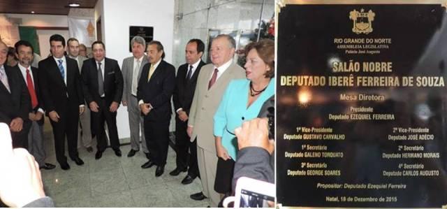 Deputado José Adécio inaugura o Salão Nobre Deputado Iberê Ferreira de Souza