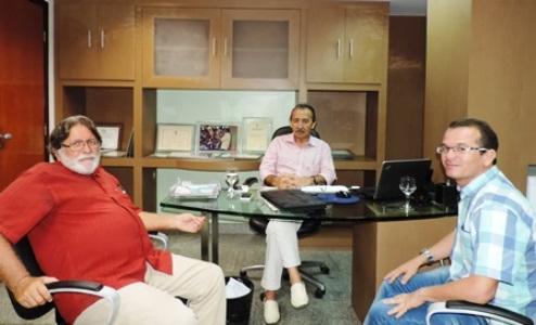 O correligionário e amigo do Deputado, o Sr. Eduardo Cabral esteve presente na reunião.
