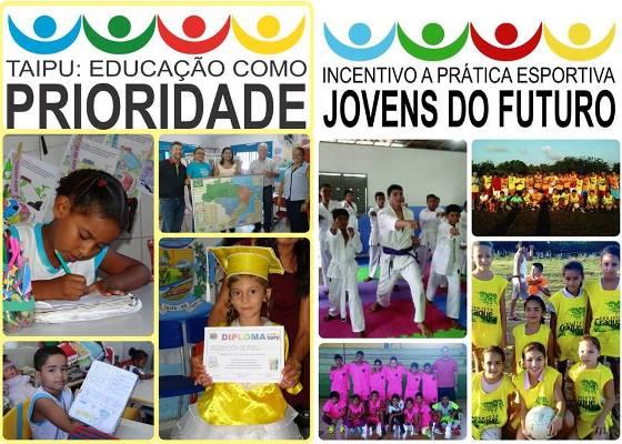 Dois dos vários projetos mantidos pela Prefeitura na administração do prefeito Louvado