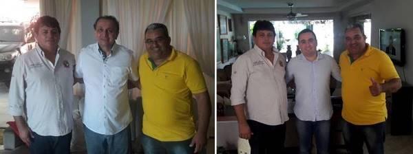 Maurício e Holderlin com Gustavo Fernandes e Antônio Jácome