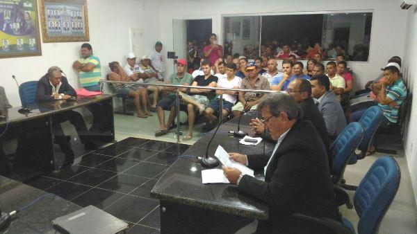 Câmara de Jandaíra vota prestações de contas do ex-prefeito Fabinho(Foto: Eurípedes Dias)