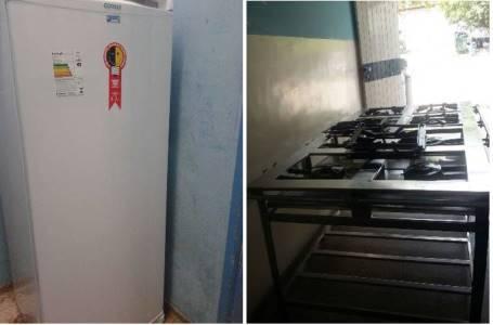 Hospital Regional recebe Geladeira e fogão industrial