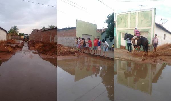 Primeira chuva do ano deixa ruas alagadas em Assu (Foto::Focoelho)