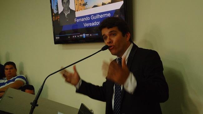 Vereador Fernando Guilherme indicado líder do prefeito na Câmara