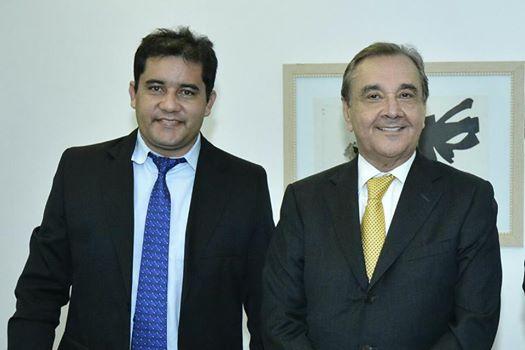 Prefeito Júnior Marques e o senador José Agripino
