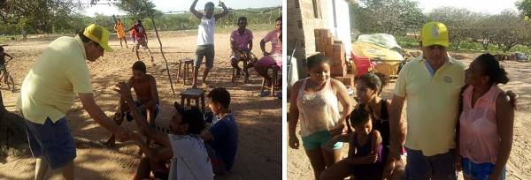 Visita do prefeito Maurício a comunidade do Amarelão