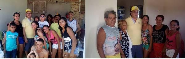 Visita do prefeito Maurício a comunidade de Pedra D'água