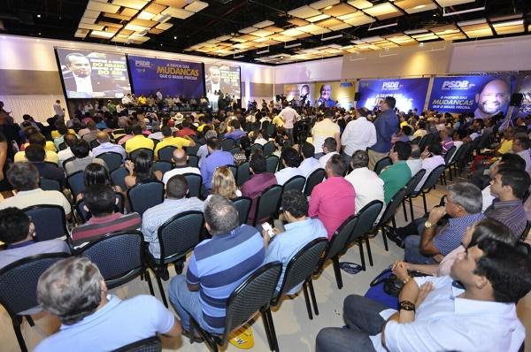 Auditório lotado no Encontro do PSDB em Natal
