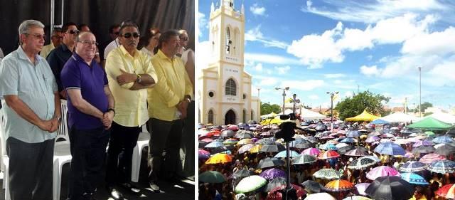 José Adécio participa da Missa do Padroeiro São José em Angicos (Fotos: Angicos News)