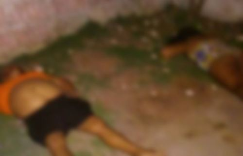 Pessoas mortas em CM, região metropolitana de Natal (Foto: Divulgação/PM)