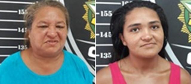 Suspeitas de tráfico de drogas, Maria Terezinha Alves e Marluce Alves Gonçalves, mãe e filha, haviam sido presas durante a Operação Viajante, realizada pela Polícia Civil em abril do ano passado na cidade de João Câmara (Foto: Divulgação/Polícia Civil)