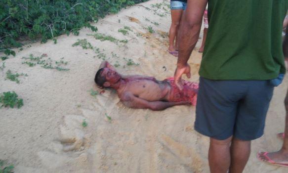 Vítima encontrada caída em uma estrada carroçável