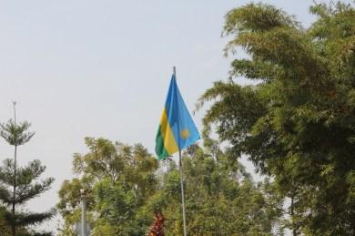 Bandera de Rwanda en el Kigali Genocide Memorial