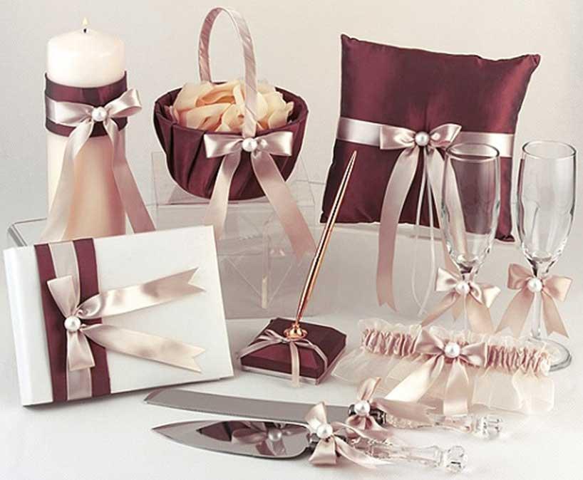 Conjunto de accesorios para bodas