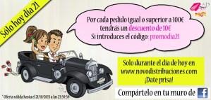 Descuento para tus regalos de boda en www.novodistribuciones.com