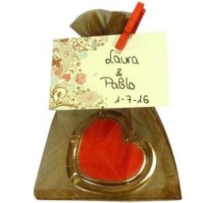 Cuelgabolsos personalizado para bodas