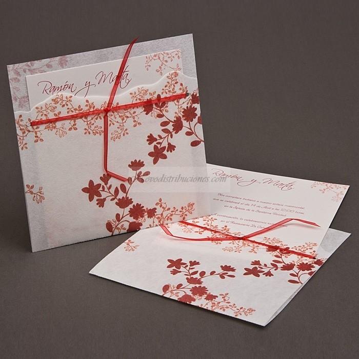Invitaciones de boda en rojo