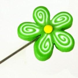 Alfiler Flor Verde